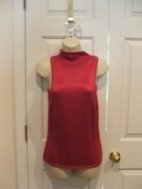 New In Pkg Newport News Fuschia Sleeveless Turtleneck Sweater Size Medium - $12.61