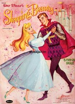 VINTAGE UNCUT 1959 SLEEPING BEAUTY PAPER DOLLS~20 PAGES CLOTHES~#1 REPRO... - $19.99
