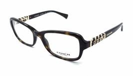 New Authentic Coach Rx Eyeglasses Frames HC 6075Q 5120 50x18 Dark Tortoise - $60.27