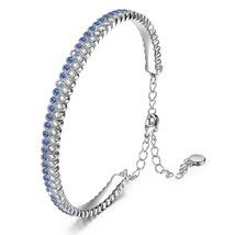 """Galaxy"" Sapphire Bracelet Made with Swarovski Crystal Women Bangle. Jew... - $59.95"