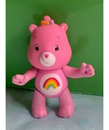 "3"" Vintage Care Bears Rainbow Bear Pose-able Figure Pink Toy Cake Topper - $18.70"