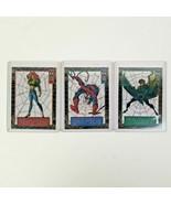 1994 Fleer Marvel Universe Suspended Animation 3 cards (2,7,8) Spiderman - $21.00