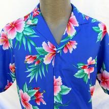 Vintage Royal Creations Size Medium Welt Pocket Pink Hibiscus Floral - $22.49