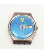Vintage Swatch Watch Tango Azul GX401 1989 - $24.74