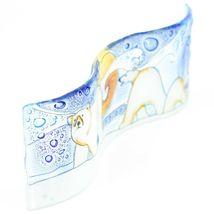 Fused Art Glass Arctic Polar Bear Winter Wavy Decor Sun Catcher Handmade Ecuador image 5