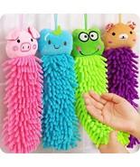 Hand Towels Kids Hanging Microfiber Soft For Kitchen Bathroom Cartoon Dr... - $11.75