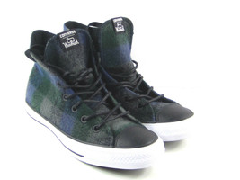 Converse x Woolrich Chuck Taylor All Star Women's Blue,Green, Plaid Wool... - $76.46