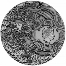 2019 $5 Guan Yu - Chinese Heroes 2oz Silver High Relief Coin image 2