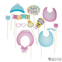 Baby Shower Photo Stick Props (12 Pack)  - $6.21