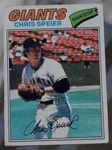 Chris Speier, Giants,  1977  #515 Topps  Baseball Card,  GOOD CONDITION - $0.99