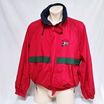 VTG Nautica Sailing Jacket 90's Flag Colorblock Competition Challenge Co... - $79.99