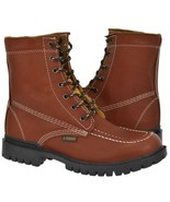 Mens Moc Toe Lace Up Work Boots Chedron Real Leather Durable Non Slip Shoes - $54.99