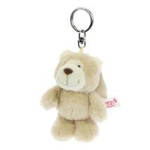 NICI Bear Beige Stuffed Animal Plush Beanbag Key Chain 4 inches 10 cm - $11.00