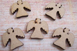4x Laser cut  Angels Craft Blank  WOODEN, MDF, TAGS , Christmas Varied S... - $2.35+