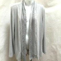 Anthropologie One September M Open Cardigan Gray Lace Textured Sweater - $23.51
