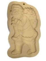 Brown Bag Cookie Art SANTA Mold Craft 1997 Hill Design - $19.79