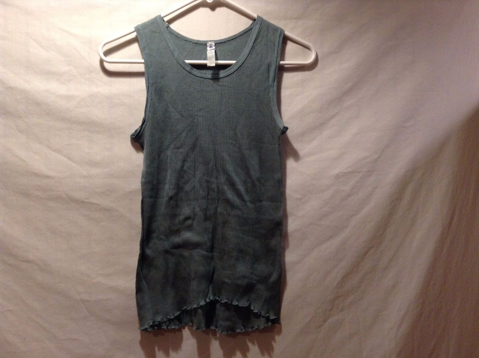 Petit Bateau Forest Green Light Weight Open Tank Top