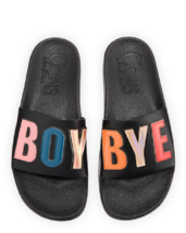 "CIRCUS BY SAM EDELMAN Flynn ""Boy Bye"" Pool Sandal in Black 6M - $27.72"