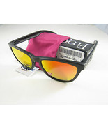 Oakley FROGSKINS Limited Edition Matte Black w/Ruby Iridium Polarized 24... - $236.44