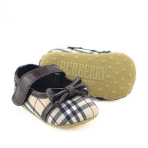 Coffee Canvas Baby Girls Dress Shoes Princess Toddler Shoes  B195 - $16.99