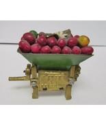 Miniature Cart Wagon Metal Art Sculpture Cafe de Colombia Nuts Bolts Washer - $28.77