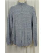 Tasso Elba Mens Sweater Sz XXL Med Blue Neps Cotton Half-Zip Pullover Sw... - $37.35