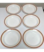 Corning Corelle Cinnamon Chestnut Flat Rimmed Soup Bowls Set of 6 - $58.99