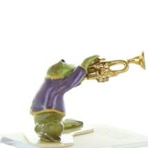 Hagen Renaker Miniature Frog Toadally Brass Band Trumpet Ceramic Figurine
