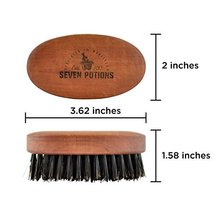 Seven Potions Beard Brush For Men With 100% First Cut Boar Bristles. Made in Pea image 7
