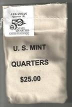 2003-P Uncirculated State Quarter Bag - ARKANSAS - $25 MINT SEWN BAG - $42.95