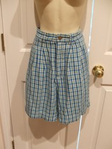 NEW NEVER WORN   white stag plaid 100% cotton walk shorts size 4 waist-27 - $7.71