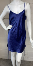 Victorias Secret Silky Polyester Nighty Open Sides Blue Small - $6.90