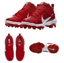 Nike Force Trout 7 Pro MCS Big Kids University Gym Red White Baseball Cleat 1Y image 1