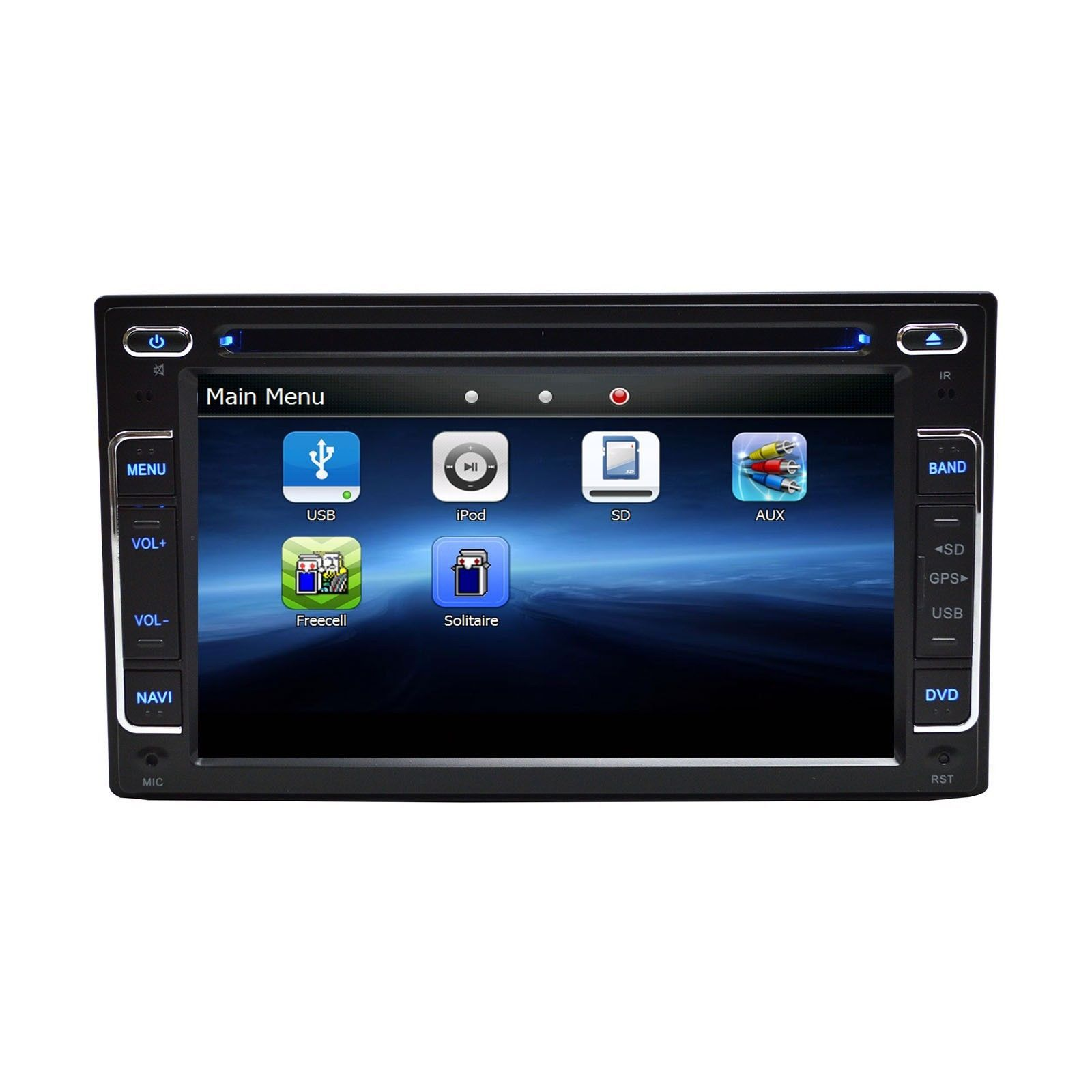 """6.2"""" DVD Navigation Touchscreen Multimedia Radio for 2012 Ford Taurus image 4"""