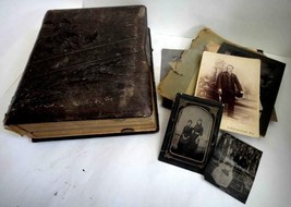 HUGE LOT antique ROTE FAMILY PHOTO ALBUM lancaster pa miller alexander b... - $425.00