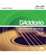D'Addario Guitar Strings  Acoustic EJ18  Phosphor Bronze Heavy - $11.99