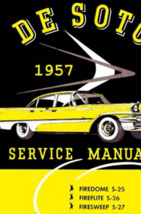1957 Desoto Firedome Fireflite Shop Service Workshop Repair Manual NEW - $79.15