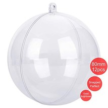 CORKAS Clear Ornaments Fillable Ball 80mm, DIY Christmas Ornaments,Bath ... - $20.06