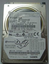 """Toshiba MK4026GAXB HDD2D07 40GB 2.5"""" IDE Drive Tested Good Our Drives Work - $19.55"""
