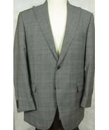 NEW Peter Millar Gray Glenplaid 4 Season Wool Suit 42L Flat Front 36W 36x32 - $224.98