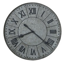 Howard Miller 625-624 (625624) Manzine Steel Finish Charcoal Gray Wall Clock - $289.00