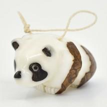 Hand Carved Tagua Nut Carving Panda Bear Hanging Ornament Handmade in Ecuador image 2