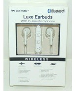 Luxe Bluetooth Earbuds With In Line Microphone Brand New Sealed Ships VE... - $2.95