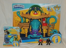 New Fisher Price Imaginext Aquaman Playset 4 Pce Set Mera Black Manta Aq... - $74.24