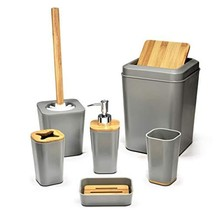 Kralix Bathroom Set 6 Pieces Plastic Bathroom Accessories Toothbrush Hol... - $33.48