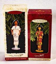 Vintage Lot of 2 Hallmark Keepsake Christmas Ornaments Barbie Collectors... - $14.84