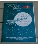 Vintage Program Candlelight Pavilion, The Wonderful World of Christmas, ... - $2.96