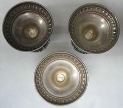 Antique 3 Candlestick Candle Holder Silver 833 Judaica Shabbat LG לג Israel 1930 image 3