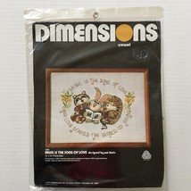 Dimensions Crewel Kit Music is the Song of Love Raccoon Porcupine Rabbit Animals - $15.83