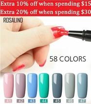 Rosalind UV Nail Gel Polish Brush Pen Nails Design Art Soak Off Base Top... - $3.33